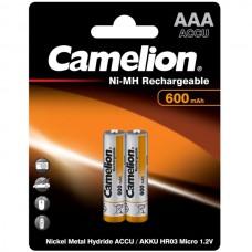 акк. Camelion AAA 600mAh-NiMh BL-2