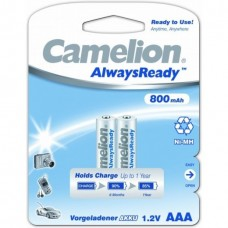 акк. Camelion AAA 800mAh-NiMh Always Ready BL-2