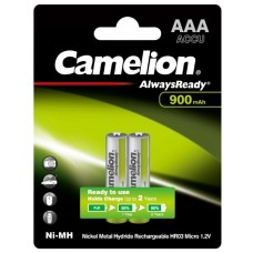 акк. Camelion AAA 900mAh-NiMh Always Ready BL-2