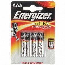 эл. пит. Energizer LR03 MAX PLUS (BL-4)