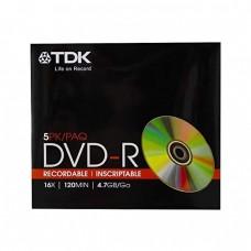 компактдиск TDK DVD-R 4,7GB 16x Slim/5