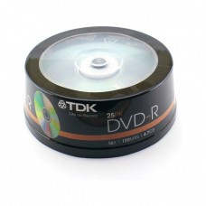 компактдиск TDK DVD+R 4,7GB 16x Cake box/25