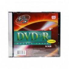 компактдиск VS DVD+R 8.5 GB 8x, Slim/5  2-х слойные
