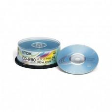 компактдиск TDK CD-R 80 52x, Cake Box/25