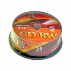 компактдиск VS CD-RW 80 (4-12x) (16-24х) Cake Box/25