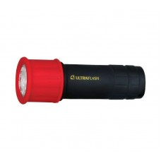 фонарь Ultraflash LED 15001-А (красный с чер, 9LED, 3XR03, пласт) (1/6)