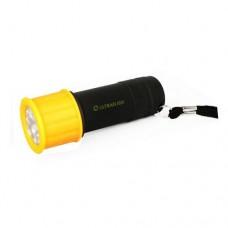 фонарь Ultraflash LED 15001-В (желтый с черным, 9LED, 3XR03, пласт)