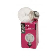 лампа GE 40D1/CL/E27 Брест (шар прозрачный) 1/100