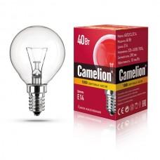 лампа MIC Camelion 40/D/CL/E14 (шарик, прозрачная)