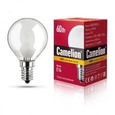 лампа MIC Camelion 60/D/FR/E14 (шарик, матовая)