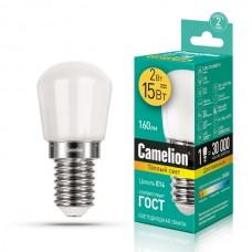 лампа Camelion LED2-T26/830/E14 (Светодиодная, 2Вт,д/холодильника)