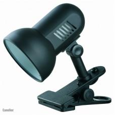 светильник Camelion Н-035 чёрный (прищепка,металл 230V60W Е27)