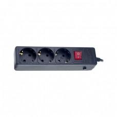 """сетевой фильтр Perfeo """"POWER+"""" 1,8м, 3 розетки, черный (PF-PP-3/1,8-G)"""