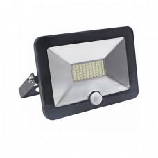 Прожектор Ultraflash LFL-1001 C02 чёрный (LED, 10Вт, 230В, 6500К с датчиком)