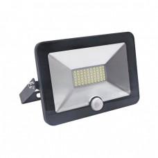 Прожектор Ultraflash LFL-2001S C02 чёрный (LED, 20Вт, 230В, 6500К с датчиком)